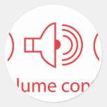 Volume Control - Disc Jockey Music Audio DJ Round Stickers