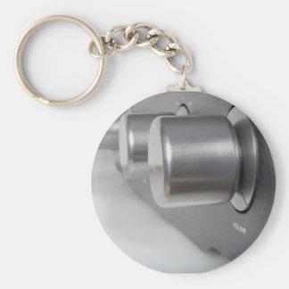 Volume Knob Basic Round Button Keychain