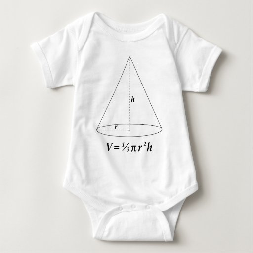 Volume of a Cone Baby Bodysuit