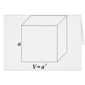 Volume of a Cube Card