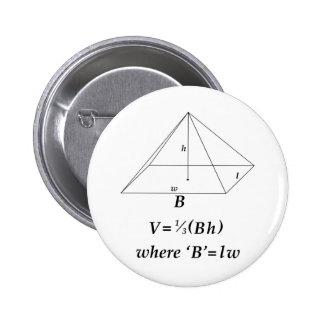 Volume of a Rectangular Pyramid Pinback Button