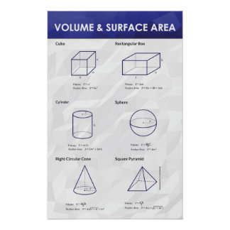 Volume & Surface Area - Math Poster
