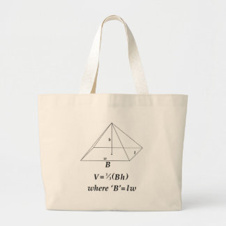 Volumen de una pirámide rectangular bolsas lienzo