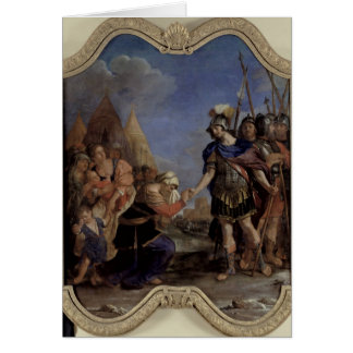 Volumnia antes de Coriolanus 1643 Tarjetón