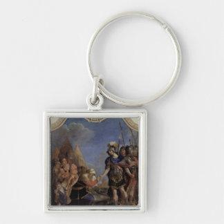 Volumnia before Coriolanus, 1643 Silver-Colored Square Keychain