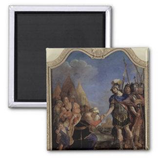 Volumnia before Coriolanus, 1643 2 Inch Square Magnet