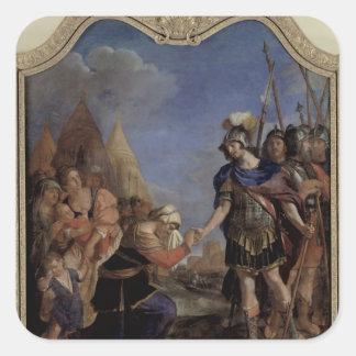 Volumnia before Coriolanus, 1643 Square Sticker