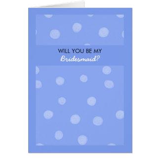 Voluntad azul pintada de los puntos usted sea mi tarjeta de felicitación
