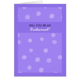 Voluntad púrpura pintada de los puntos usted sea m tarjeta