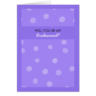 Voluntad púrpura pintada de los puntos usted sea tarjeta de felicitación