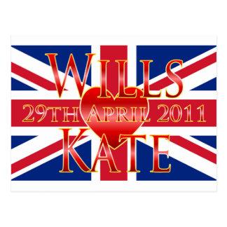 Voluntades y Kate Tarjeta Postal