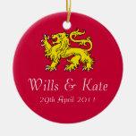 Voluntades y ornamento real del boda de Kate Adorno Para Reyes