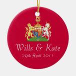 Voluntades y ornamento real del recuerdo del boda ornaments para arbol de navidad