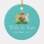 Voluntades y ornamento real del recuerdo del boda adorno para reyes