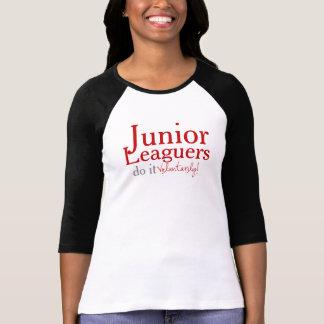 Voluntarily 3/4 sleeve Baseball - Black Tshirt