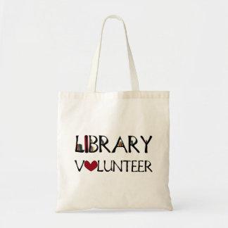 Voluntario de la biblioteca bolsa tela barata