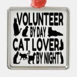 Voluntario del amante del gato adorno para reyes