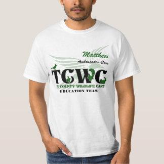 Voluntario del logotipo de TCWC - Playera