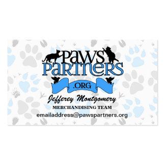 voluntario del personalizado de PawsPartners.org Tarjeta De Visita