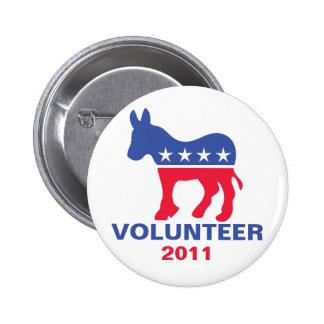Voluntario Democratic Pin