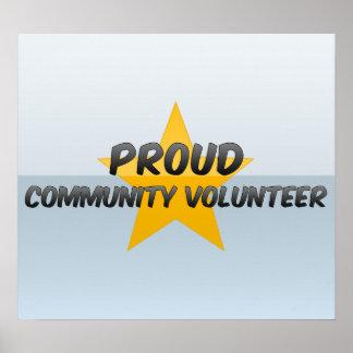 Voluntario orgulloso de la comunidad poster