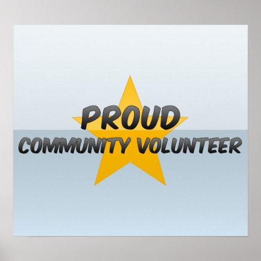 Voluntario orgulloso de la comunidad póster