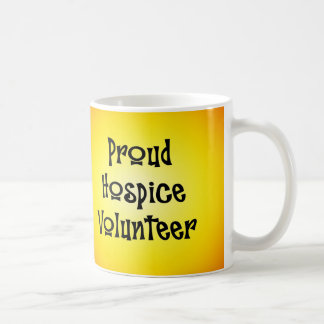 Voluntario orgulloso del hospicio taza clásica