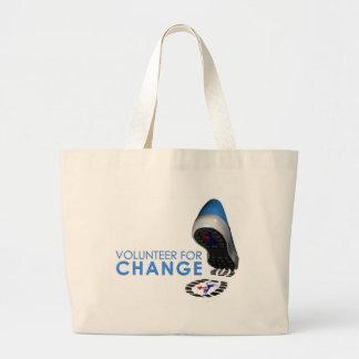 Voluntario para el cambio bolsas de mano