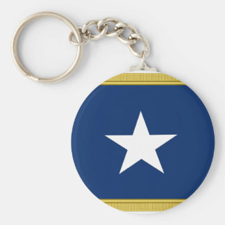 Voluntarios de Tejas Cofederate de la bandera azul Llavero Redondo Tipo Pin