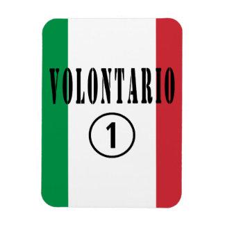 Voluntarios del italiano: Uno de Volontario Numero Imán De Vinilo