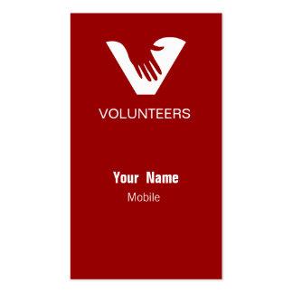 Voluntarios del rojo tarjeta de visita