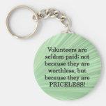 Voluntarios inestimables llaveros personalizados