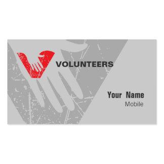 Voluntarios Plantilla De Tarjeta De Visita