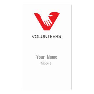 Voluntarios Plantillas De Tarjeta De Negocio