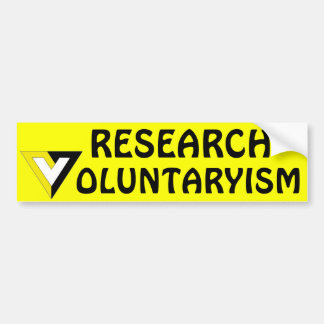 Voluntarism Bumper Sticker