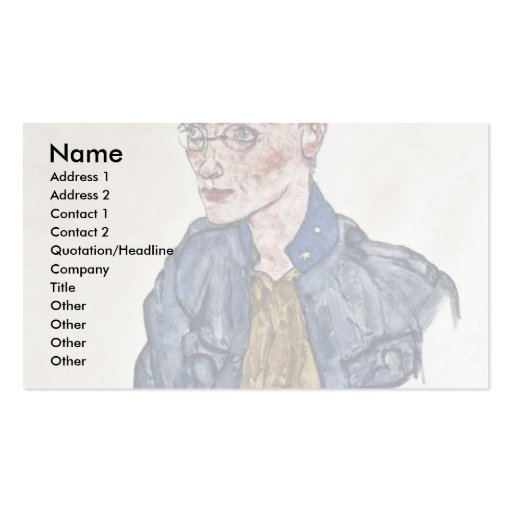 Voluntary Private By Schiele Egon Business Card