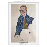 Voluntary Private By Schiele Egon Greeting Cards
