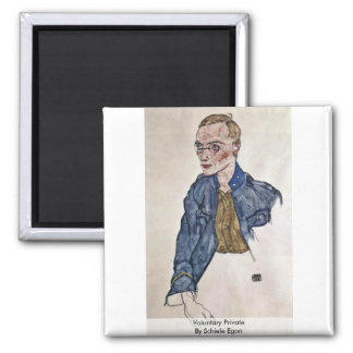 Voluntary Private By Schiele Egon Magnets