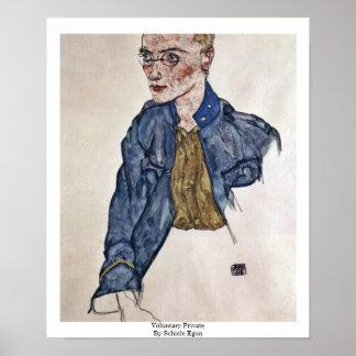 Voluntary Private By Schiele Egon Print