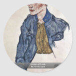 Voluntary Private By Schiele Egon Round Stickers