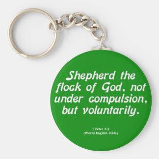 Voluntary Service 1 Peter 5-2 Keychain