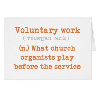 Voluntary work card