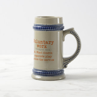 Voluntary work mug for organists -