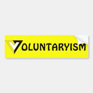 Voluntaryism Pegatina Para Coche