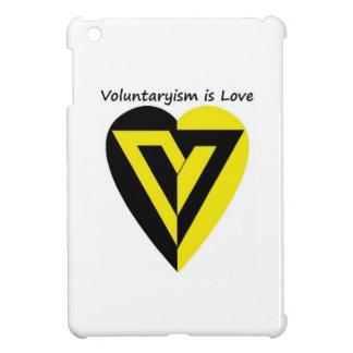 Voluntaryism is Love - iPad mini case glossy