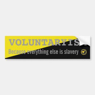 Voluntaryism-pegatina Pegatina Para Auto
