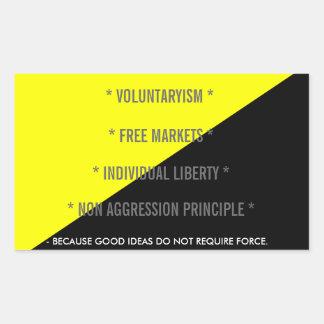 voluntaryism-sticker (4 on 1 sheet) rectangular sticker