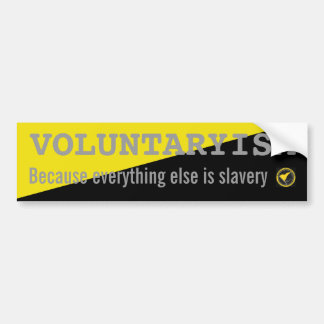 Voluntaryism-sticker Bumper Sticker