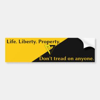 Voluntaryist Anarcho-Capitalist Bumper Sticker