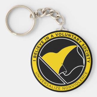 Voluntaryist AnCap Keychain